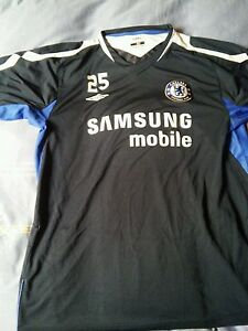 CAMISETA-JERSEY-SHIRT-MAILLOT-TRIKOT-MAGLIA-UMBRO-CHELSEA-MATCH-WORN-TRAINNING-L