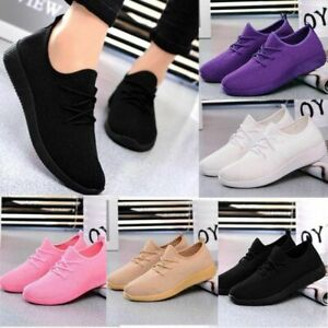 Womens-Outdoor-Mesh-Sport-Shoes-Breathable-Casual-Sneakers-Running-Shoes-Size