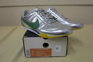 quality design 35950 4f9c2 Image is loading NIKE-SPRINT-SISTER-LEATHER-WOMENS-MATLC-SLIVER-GREEN-