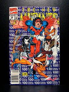 COMICS-Marvel-The-New-Mutants-100-1991-1st-X-Force-app-final-issue-RARE