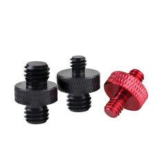 2pcs 1//8 1//4 3//8 aluminum camera conversion screw tripod adapter double bolt