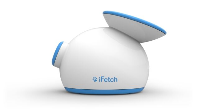 iFetch Automatic Ball Launcher Machine Fetch Toy For Small Dogs Heavy Duty White