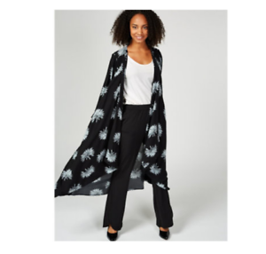 Duster Black Floral 12 Mono Unlimited Live London q1wIAHKP