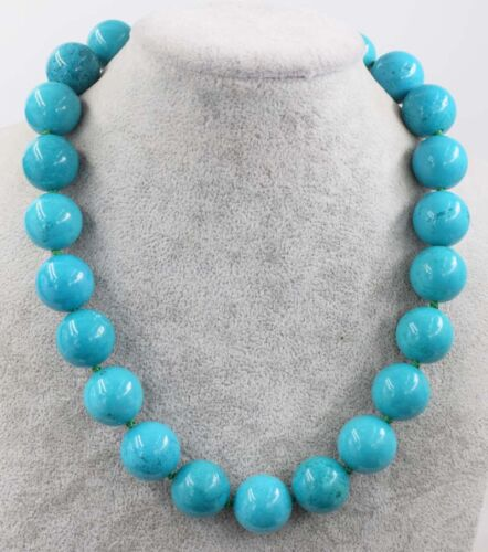 """howlite blue turquoise round 18mm  18/""""  wholesale beads necklace"""