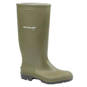 Dunlop-Green-Mens-Wellington-Boots-Wellies-7-12-UK