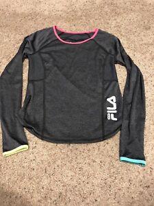 fa8b6a9dd LN Fila Sport Dri Fit Shirt Girls 10/12 Long Sleeve Youth   eBay