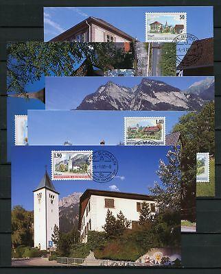 133942 Liechtenstein Nr.1229-1233 Est Maximumkarten Dorfansichten !!! Bequem Und Einfach Zu Tragen
