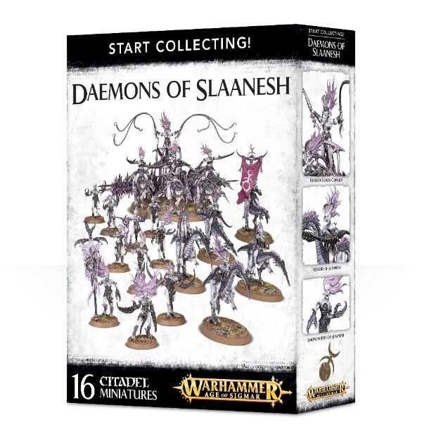 EstrellaT COLLECTING Warhammer DAEMONS OF SLAANESH 16 miniature giocoS lavoronegozio  Citad  in vendita online