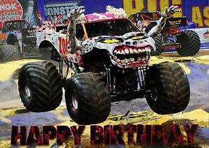LARGE Zombie Monster Jam Monster Truck Party Cake ...