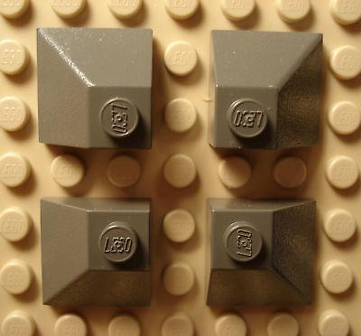 LEGO LEGOS  4 NEW Slopes 45 2 x 2 Double Convex BLACK  Harry Potter