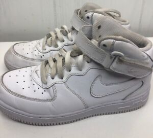 3eeb880d12a Details about Nike Air Force 1 Mid PS White Leather Boys Youth Shoes size 3Y