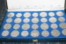 Full Set 1976 Canadian Montreal Olympic 28 Sterling Silver Coin & original box