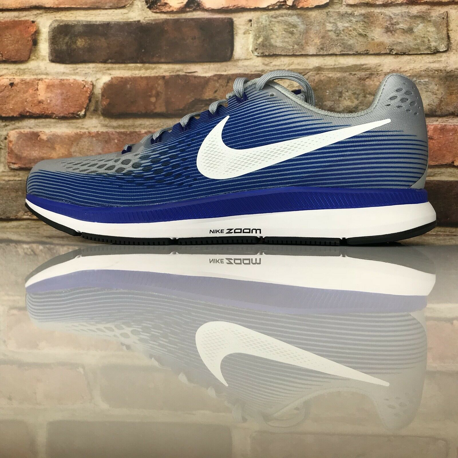 Nike AIR ZOOM PEGASUS 34 (4E) Wide Running shoes Mens Size 10.5 blueE 880557-007