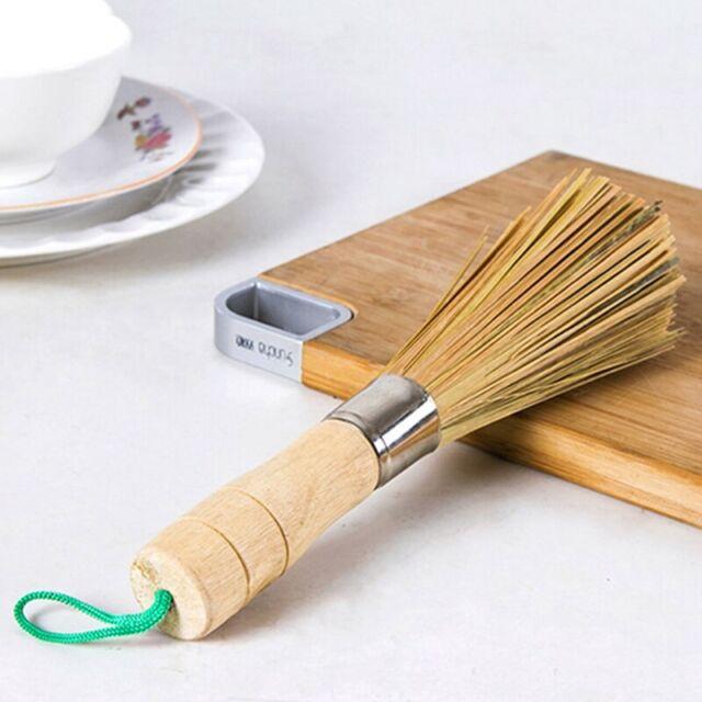 Hot Bamboo Wok Brush Cooking Clean Tool Utensils Restaurant Kitchen Practical