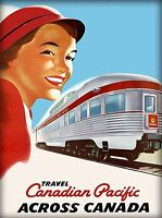 Canada Pacific Across Canada Vintage Railroad Travel Advertisement Art Poster