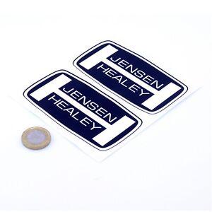 Jensen-Healey-Badge-Sticker-Decal-Classic-Car-Vinyl-100mm-x2-Interceptor-CV8
