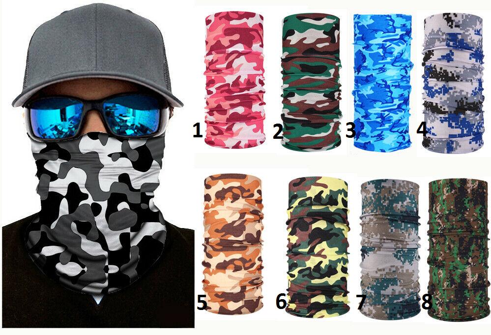 Scarf Multifunction Choker Sport Camouflage Bike Moto Bandana Hood