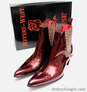 Jeffery West Shoes Dark Metallic Red