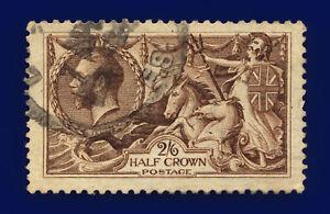 1918-SG414-2s6d-Chocolate-Brown-Bradbury-Wilkinson-N65-3-London-GU-Cat-75-cjco