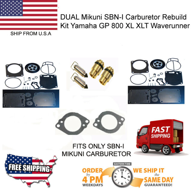 Dual Mikuni Sbn-i Carburetor Rebuild Kit Yamaha GP 800 XL XLT WAVERUNNER  Needle