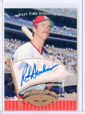 2005 UD PAST TIME PENNANTS #RB RICK BURLESON AUTOGRAPH, BOSTON RED SOX