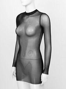 Women-039-s-Sexy-Mesh-Bodycon-Dress-See-Through-Short-Mini-Dress-Cover-Up-Clubwear