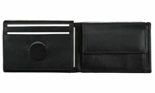 Alassio Mini-Geldbörse Geldbörse Portemonnaie Nappa-Leder schwarz EURO-Chip-Fach
