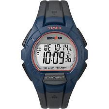 Timex TW5K94100, Men's 10-Lap Ironman Triathlon Black Resin Watch, Alarm,Indiglo