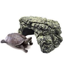 Natural Reptile Burrow Resin Lizard Snake Turtle Rock Hide Cave Habitat 12*10*6
