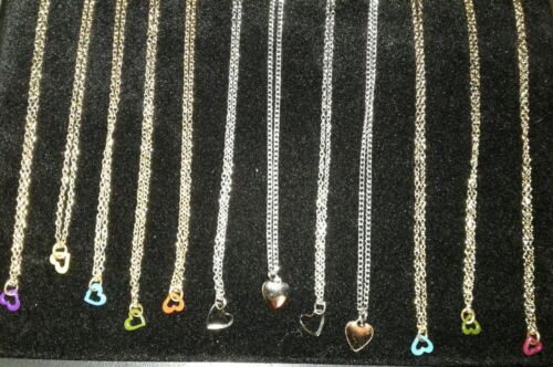 MAKE☆OFFER☆GOLD☆ $100 Rep.* Banknote 12 GOLD /& SILVER BEAUTIFUL HEART Necklaces