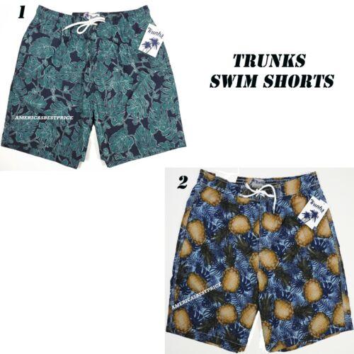 TRUNKS SURF /& SWIM CO.NEW MENS BEACH SHORTS QUICK DRY MARINE BLUE /& PERSIAN BLUE