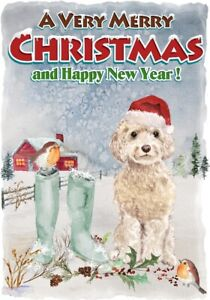 Poodle Dog Christmas Labels by Starprint No 6