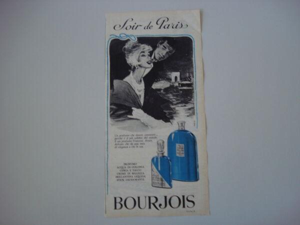 Advertising Pubblicità 1961 Parfum Bourjois Soir De Paris