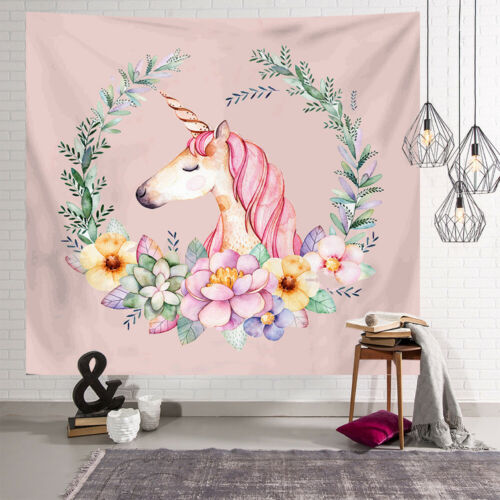 Wall Decor Tapestry Ins Unicorn Nordic Style Hanging Cloth Flamingo Background