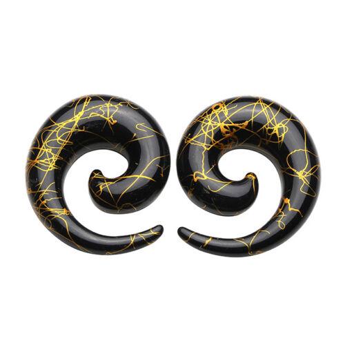 Acrylic Spiral Snail Ear Expander Stretcher Taper Ear Plug Tunnel 1.6mm-20mm-AD