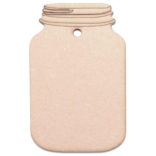 Wooden MDF Mason Jar Shapes Craft Jars Jam Jars Wedding Gift Tags Jar Labels