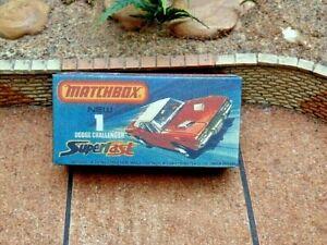 Matchbox Superfast NO.1D Dodge Challenger Personalizadas Pantalla/Almacenamiento Caja sólo