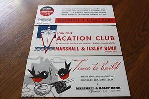 3-Vintage-Blotters-Marshall-amp-Ilsley-Bank-Milwaukee-Wisconsin-founded-1847