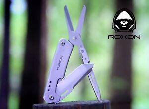 EDC-Folding-Pocket-Knife-amp-Scissors-Multi-Tool-Roxon-urban-and-camping-NEW-HQ