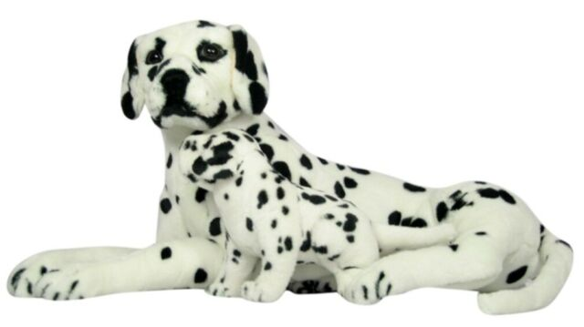 PLÜSCHTIER HUND BOXER 56 cm gross Kuscheltier Plüsch Stoffhund Haushund