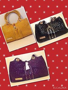 Image Is Loading La Gioe Di Toscana Leather Woven Handbag Couture