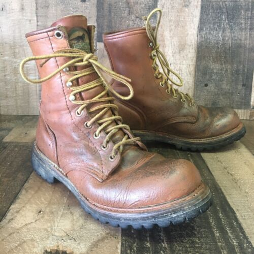 RED WING IRISH SETTER VINTAGE WORK BOOTS MENS 6.5