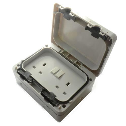 waterproof 2 gang socket switched double-usage extérieur Outdoor IP66 weatherproof