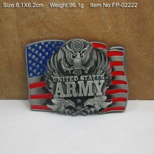 US ARMY METAL VINTAGE hommes Boucle de ceinture Cowboy Western Style ACCESSOIRES 38 mm 40 mm
