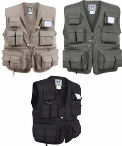 0a6cc6207 Vest Uncle Milty's Multi Pocket Travelers Fishing Photography Rothco ...