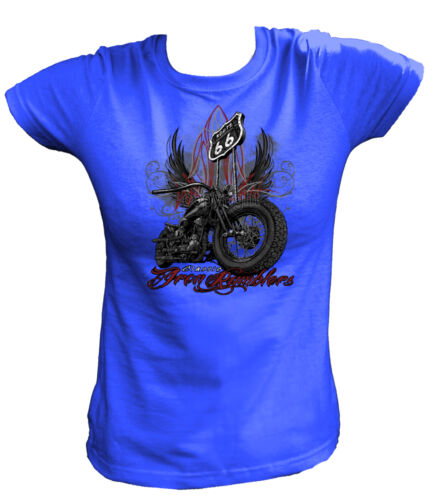 Damen T-Shirt 15050 Classic Iron Rumblers Biker Motor Hot Rod Army Motorrad USA