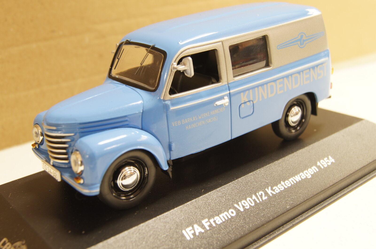 IFA FRAMO v901 2 encadré 1954 bleu 1 43 IXO-est nouveau & OVP