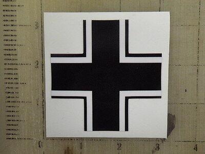 "Vintage German Balkin Cross sticker decal sign 3"""