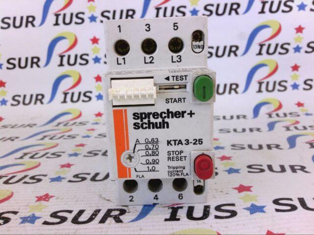 SPRECHER /& SCHUH KTA3-25-1A KTA3251A NEW IN BOX