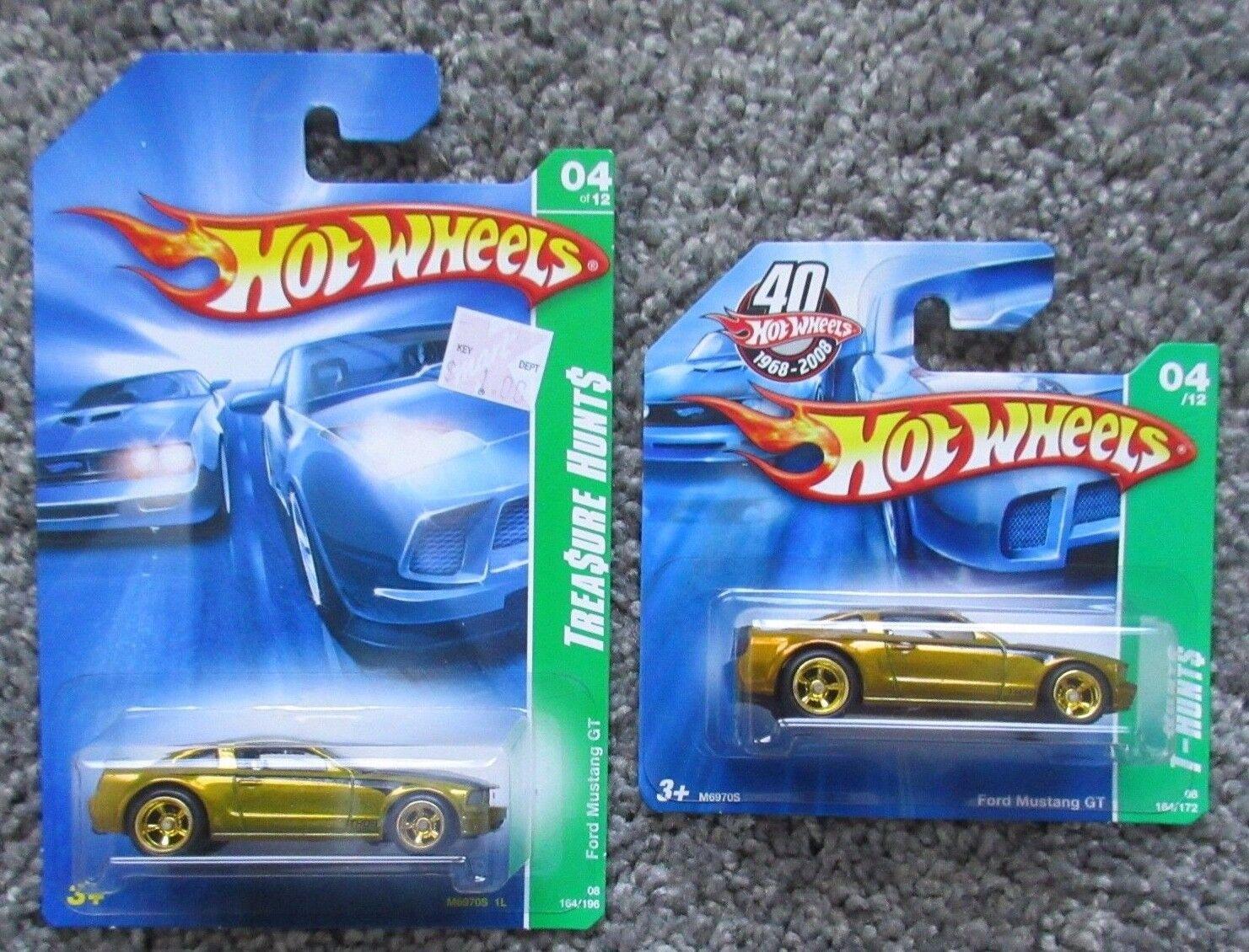 alto descuento Nuevo en paquete 1 64 64 64 Diecast Hot Wheels 2 Mustang Gt Tarjeta Corta Larga  4 M6970 súper Hunt  40% de descuento